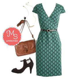 """""""Peace and Client Dress in Dots"""" by modcloth ❤ liked on Polyvore featuring modcloth, modstylist, modclothlabel and plus size dresses"""