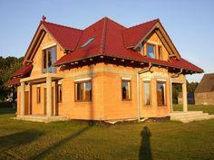 Widok domu od strony ogrodowej  #ogród #dom #projekt