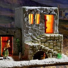 Gecko Terrarium, Clay Houses, Building Furniture, Christmas Villages, Holidays And Events, Nativity, Xmas, Ornaments, Crafts