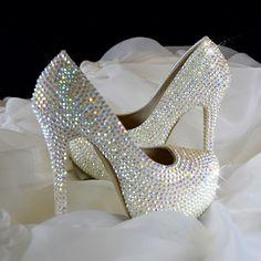 Bling Round Toe Low Cut Uppers Thin Heel Nice White Rhinestone Wedding Shoes Heels Crystal Platform Bridesmaid High Quality