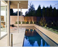Architecturally designed pools add depth to a garden space