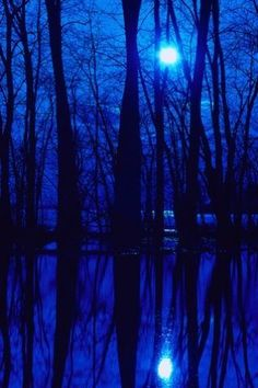 I'll never be blue.My dreams come true.On Blue Bayou Blue Dream, Love Blue, Foto Nature, Cool Winter, Everything Is Blue, Blue Bayou, Beautiful Moon, Foto Art, Jolie Photo
