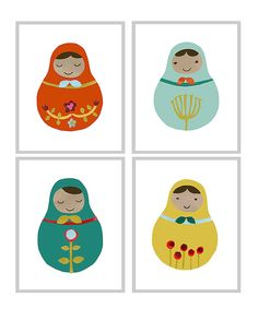 Cute for learning about countries around the world - decorate a nesting doll shape like that country w/clothes, etc.