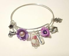 Believeelephantmonkeyfour leaf cloverglass by DelabudCreations Believe In Magic, Beautiful Roses, Glass Beads, Shops, Healing, Bangles, Etsy Shop, Silver, Handmade