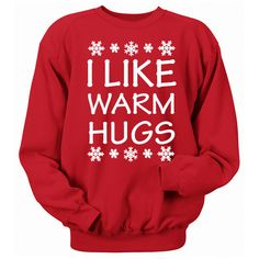I Like Warm Hugs Olaf Christmas sweater.christmas Cheer Crew Neck... ($22) ❤ liked on Polyvore featuring tops, hoodies, sweatshirts, grey, t-shirts, women's clothing, grey shirt, raglan shirts, crew neck shirt and 3/4 sleeve raglan shirt