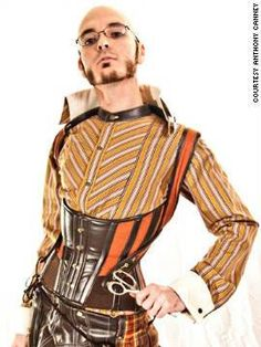 Corsets for Men – Lucy's Corsetry Steampunk Makeup, Steampunk Men, Steampunk Clothing, Steampunk Fashion, Steampunk Outfits, Urban Tribes, Gentlemen Wear, Blazers, Fashion Project