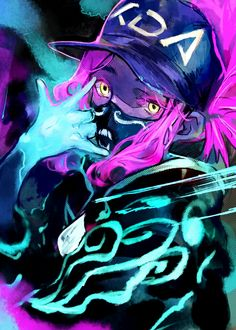 AKALI- KDA - League of legends- by Toro-san Akali League Of Legends, League Of Legends Characters, Lol League Of Legends, Fictional Characters, Cool Anime Pictures, Bff Pictures, Akali Lol, Bambi, Star Art