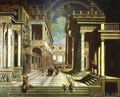 Paris Bordone - Emperor Augustus and the Sibyl, 1535