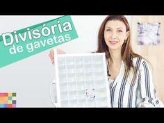 (1) Divisórias de gavetas DIY | Organizador faça você mesmo - YouTube