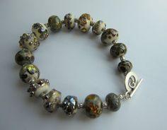 Bracelet - lampwork and sterling silver