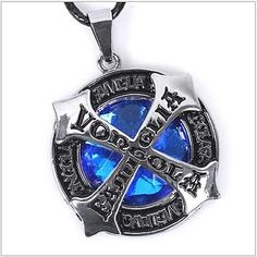 Vongola Famiglia Stylish Blue Crystal Pendant