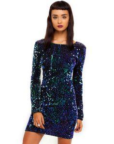 Buy Motel Gabby Green Sequin Dress in Iridescent at Motel Rocks Club Dresses e863a0757