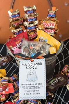Delight your neighbors with a BOO Basket filled with your favorite Mars candy. Fill a simple basket with an assortment of candies and homemade treats and encourage them to #BooitForward