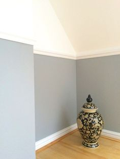 Beautiful Living Room Paint Color Ideas Warm Blue Dulux Warm Pewter With images Warm Paint Colors, Warm Gray Paint, Kitchen Paint Colors, Paint Colors For Living Room, Dulux Warm Pewter, Dulux Grey Paint, Apartment Painting, Hallway Colours, Beautiful Living Rooms