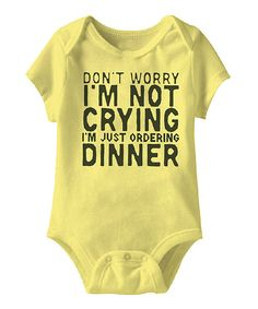 Look at this Urs Truly Banana 'I'm Not Crying' Bodysuit - Infant on #zulily today!