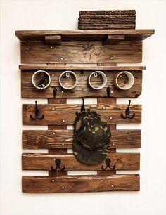 diy pallet wall coat rack with shelf