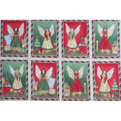 Choir Of Angels Wilmington Christmas Fabric Blocks Panel Christmas Fabric Panels, Wilmington Prints, Decoupage, Christmas Angels, Patch, Choir, Gift Wrapping, Quilts, Holiday Decor