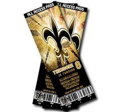 New Orleans Saints Birthday Invitation by SweetDigitalCreation, $9.00