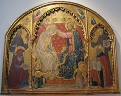 Sano di Pietro - Incoronazione della Vergine - Pinacoteca Nazionale di Siena
