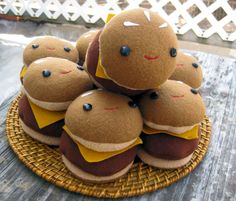 Tiny burgers, full size smiles.    4.5 x 3.5    This listing is for one slider.    Please note that almost all items are made to order. Handmade takes