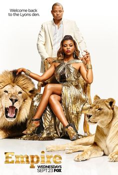 Empire season 2 poster with Taraji P. Henson and Terrence Howard