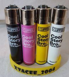 #12 Clipper Original Shape Flint Lighter COOL STORY BRO Full Set Or Single