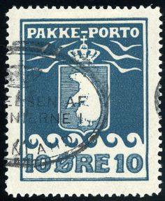 Greenland 10ø, blue,  parcel post 1915. [Mi:7a]