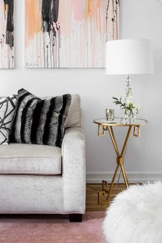 A Sleek, Glamorous West Village Reno. Living Room ...
