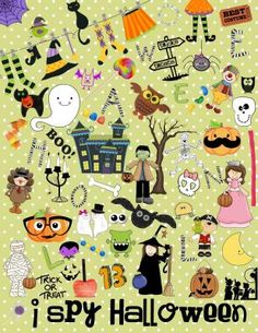 I Spy Halloween from Celebrate Learning Designs on TeachersNotebook.com -  (2 pages)  - A fun Halloween game for individuals or groups!