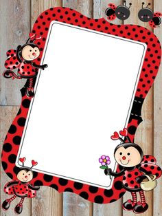 Peppa Pig Invitations, Playgroup Activities, Frame Border Design, Art Bulletin Boards, Boarders And Frames, Hello Kitty Backgrounds, My Little Pony Birthday Party, Ladybug Art, Easy Cartoon Drawings