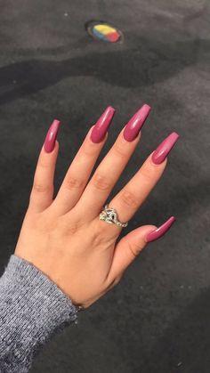 Acrylnägel - Die neuesten Acryl Nageldesign Ideen sind so perfekt für den Herb. Acrylic Nails - The latest acrylic nail design ideas are so perfect for autumn . Cute Acrylic Nails, Acrylic Nail Designs, Cute Nails, Pretty Nails, Nail Art Designs, Nails Design, Hair And Nails, My Nails, Nail Polish