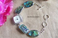 Abalone Shell Watch in Sterling Silver 618 | Seabreezejewels - Jewelry on ArtFire