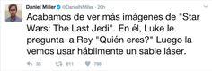 Un reportero vio el nuevo teaser de The Last Jedi y lo comentó por Twitter revelando un spoiler?