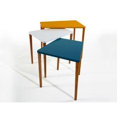 Sada 3 stolků Gaston Mustard/White/Petrol   Bonami Gaston, Cofee Tables, Mustard, Police, Number 3, Chair, Furniture, Home Decor, Decoration Home