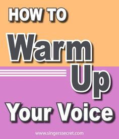 Learn how to effectively warm up your voice for singing and protect it from injury. #singingtips #howtosing #singing
