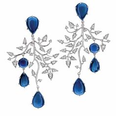 Topaz and diamond earrings by Brumani