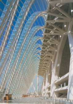 "Santiago Calatrava, ""City of Arts and Sciences"", 1996-2009, an entertainment-based cultural complex in Valencia, Spain."