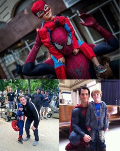 Andrew Garfield, Chris Evans and Henry Cavill. That is so sweet.