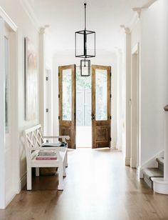 Love the lightness in this foyer. Great door!