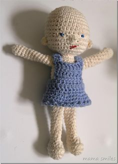 Waldorf-inspired crochet doll