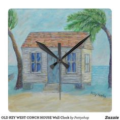 OLD KEY WEST CONCH HOUSE Wall Clock