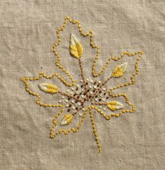 Leaf VIII  Golden yellow. Go to www.kellyfletcher.blogspot.com for free pattern.