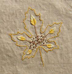 Embroidery Ideas from Flicker : Leaf VIII by Kel Fletcher