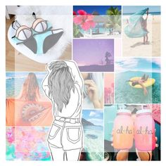 """19 ; i know what you did last summer"" by the-island-girls ❤ liked on Polyvore featuring art"