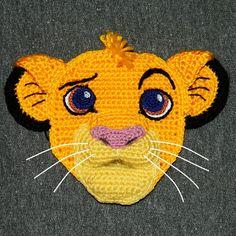 Crochet Pattern. Applique. Simba The Lion door InspiredCrochetToys