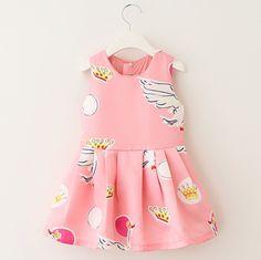 $24.99 (Buy here: https://alitems.com/g/1e8d114494ebda23ff8b16525dc3e8/?i=5&ulp=https%3A%2F%2Fwww.aliexpress.com%2Fitem%2F2015-New-Brand-Autumn-Baby-Girls-Dress-Sleeveless-Print-Swan-Princess-Dress-Children-Clothing-A-Line%2F32390029246.html ) 2015 New Brand Autumn Baby Girls Dress Sleeveless Print Swan Princess Dress Children Clothing A-Line Casual Kids Party Dresses for just $24.99
