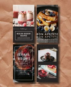 Food Poster Design, Menu Design, Food Design, Instagram Feed Layout, Instagram Story Template, Digital Menu, Menu Book, Food Template, Food Journal