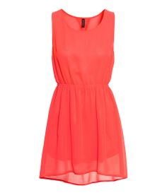 Sleeveless Coral Dress to go with my new mint heels