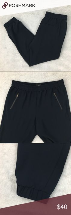 """J Crew Drapey Jogger Pants Style #B0587 Waist approx: 28"""" Inseam: 27"""" Elastic waistband for perfect fit and comfort Two front zipper pockets Elastic ankle hem Polyester Excellent condition! J. Crew Pants Track Pants & Joggers"""