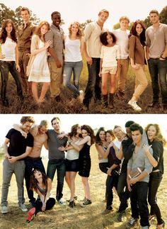 The Hunger games cast vs. Twilight cast. Vanity fair shoot.